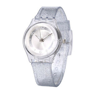 Newyork-Army-Silver-Transparent-Shimmer-Women-039-s-Watch-NYA1313
