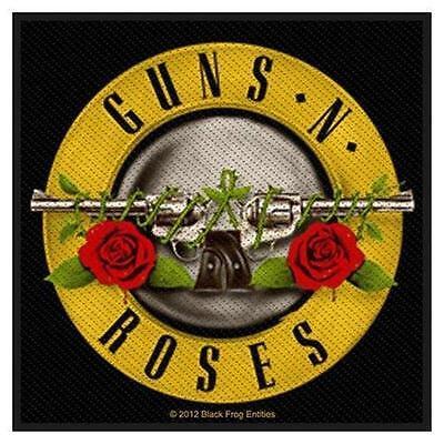 OFFICIAL LICENSED - GUNS N ROSES - BULLET LOGO SEW ON PATCH METAL SLASH ROCK