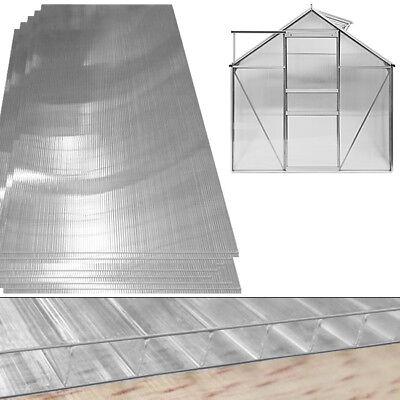 Hohlkammerplatten Stegplatten Doppelstegplatten Gewächshaus Zubehör 10,25 m²