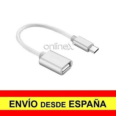Cable Adaptador OTG USB Hembra a USB 3.1 Tipo C Macho Cable...