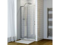 Sliding shower door and tray - brand new 1200x900