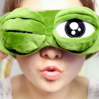 3D Cartoon Sleep Mask Frog Eye Cover Eye Blindfold Sleeping Make Kids Adult O3 (Cartoon Eye)