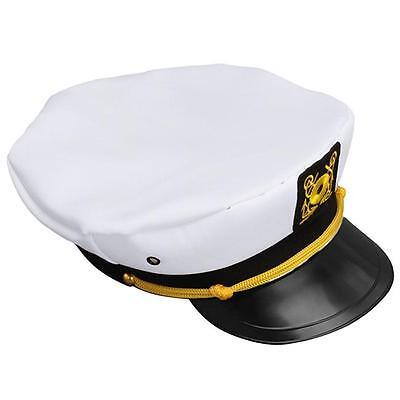 Fancy Costume Hat Cap Adjustable Navy Marine Yacht Boat Ship Sailor Captain L