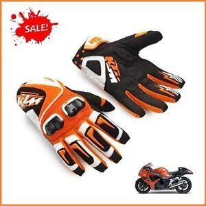 gants noir et orange ktm armure moto course racing motocross vtt quad ebay. Black Bedroom Furniture Sets. Home Design Ideas