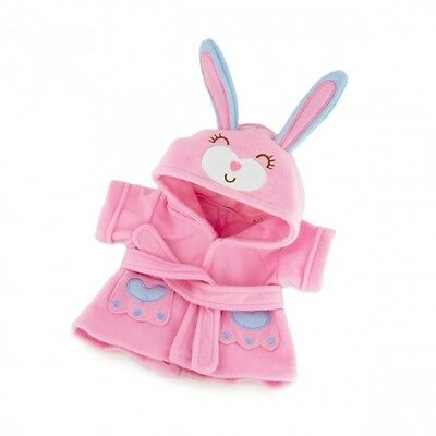 Pink Bunny Cozy Bathrobe -  teddy bear clothes fit bears build a bear plush ted
