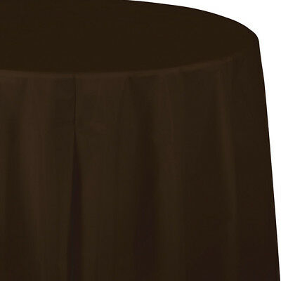 Brown Plastic Tablecloth (Brown Plastic Round Tablecloth 82