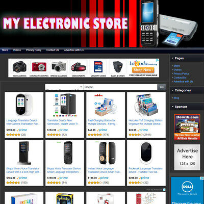 Electronic Store - Established Affiliate Website For Sale Free Domain Hosting