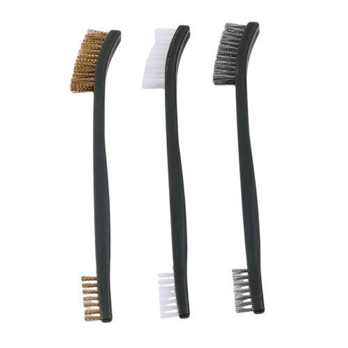 3x Gun Cleaning Brush and 2 Hook Pick Kit Double End Gun Brushes Plastic Set FM