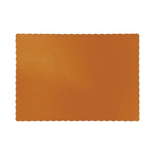 Hoffmaster Group 323376 Pumpkin Spice Placemats Pack of 12 - 50 Per Pack