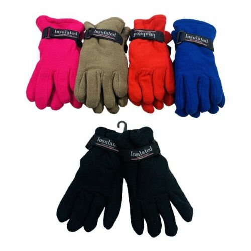 144 Pairs Childrens Kids Fleece Gloves Thermal Insulated Winter Fleece Glove Lot
