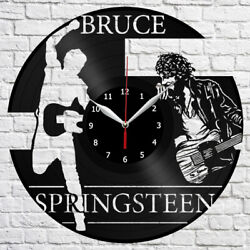 Bruce Springsteen Vinyl Record Wall Clock Fan Art Home Decor Original Gift 3839