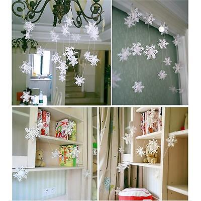 12Pcs Christmas Snowflake Decorations 3D Snowflake Hanging Garland Banner LE (Hanging Snowflake Decorations)