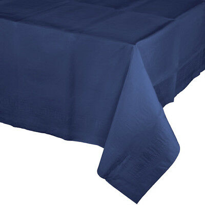 Navy Blue 2/Ply Paper-Poly Banquet Tablecloth  54