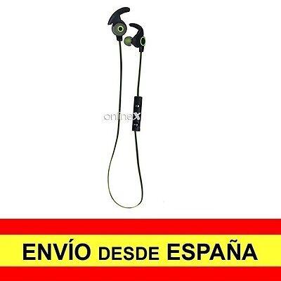 Auriculares Inalámbricos AMW-810 Manos Libres Deportivos Color Negro-Verde a2730