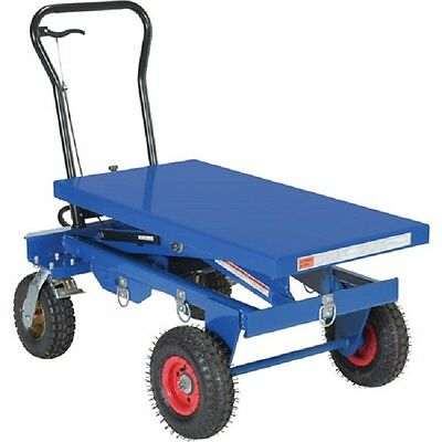 New Pneumatic Tire Hydraulic Elevating Cart 1500 Lb. Cap.