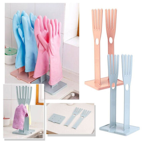 Glove Rack Drying Drain Water Gloves Stand Holder Dish Kitchen Tools Plastic L