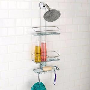 """DELANO  Shower Curtains: 71"""" $15 ,NEW Oxo Softworks 2 Tier Shower Caddy $ 20 , Melannco 16 x 20 Mirror Rectangle $ 25"""