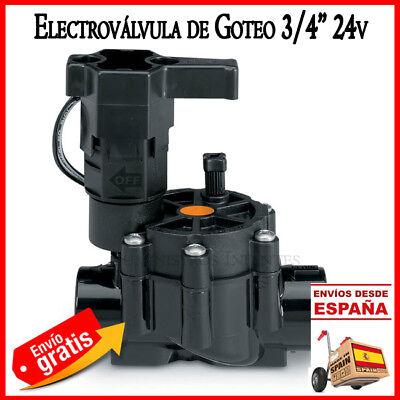 ELECTROVALVULA RIEGO GOTEO 24V 3/4 BAJO CAUDAL LFV VALVULA RAIN BIRD ELECTRICA