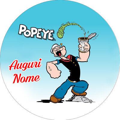 Popeye Party Supplies (Cialda BRACCIO DI FERRO POPEYE Decorazione Torta Ostia o Zucchero)
