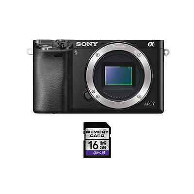 $451.29 - Sony Alpha A6000 Mirrorless Digital Camera - Black w/16GB SDHC Card