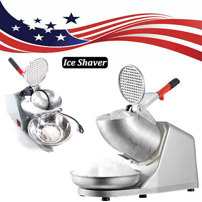 Electric Ice Crusher Shaver Machine Snow Cone Maker Shaved Ice 143 Lbs Summer