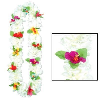 Luau Party Silk n Petals Carnation Lei](Carnation Leis)