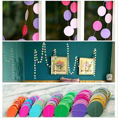 Creative Rainbow Circle Round Paper Garlands Wedding Party Banner Decoration S