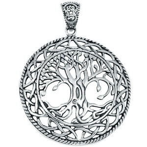 Tree Of Life 925 Sterling Silver Pendant Plain Design Jewelry AAASPJ2049