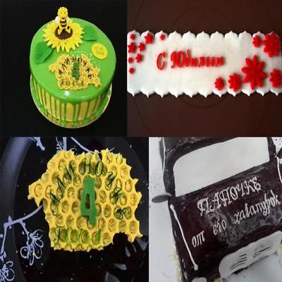 3D Russian Alphabet Letter Silicone Chocolate Mold Cake Fondant Decorating LE Lg Chocolate 3 Silicone