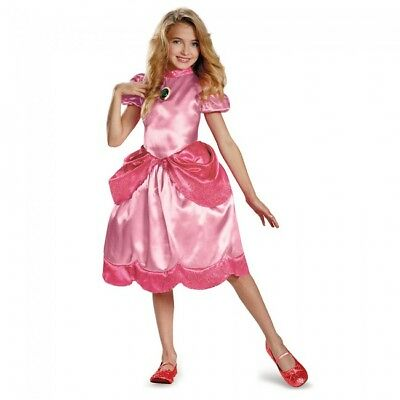 Disguise Princess Peach Super Mario Bros Girls Childrens Halloween Costume 73696 (Princess Peach Child Costume)
