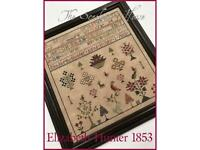 Harriet Taylor 1842 Reproduction Sampler Scarlett House Pattern or Kit