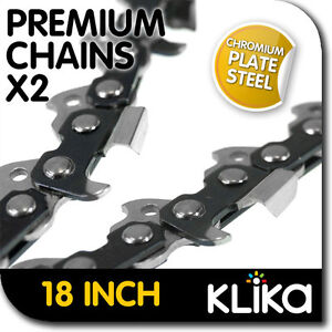 2x NEW 18 inch CHAINSAW CHAINS .325 Pitch 72DL 0.058 REPLACEMENT SAW SPARE PART