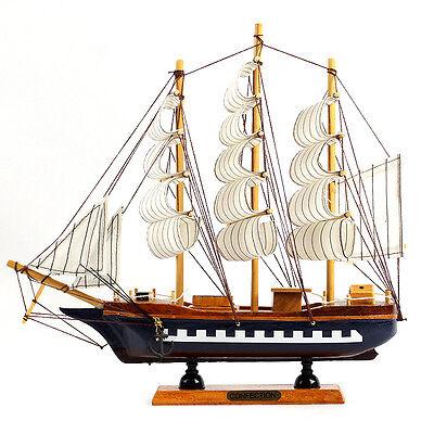 29cm Wood Mini Miniature Model Interior Decoration Sailing Boat Ship Decor Props