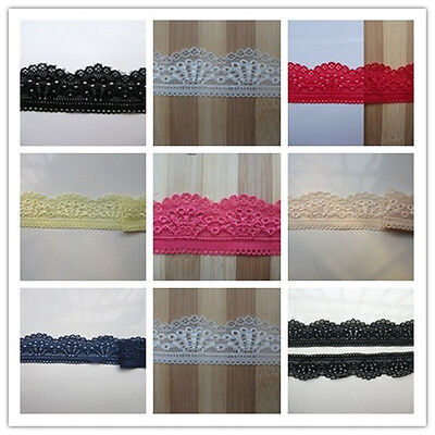 high-quality stretch african lace dress ribbon 5Yard' embroidered patches  (Best African Attire Dresses)