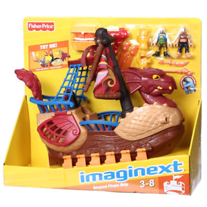 Imaginext serpent pirate ship (brown)