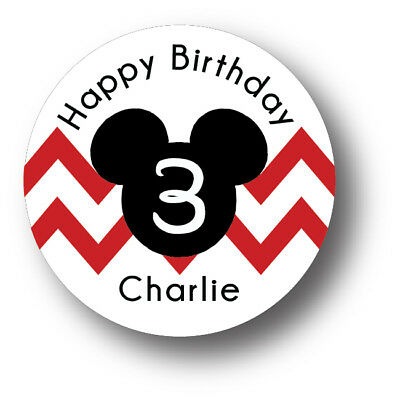 30 Mickey Mouse Birthday Party Invitation Stickers - Personalized - Mickey Mouse Birthday Party Invitations