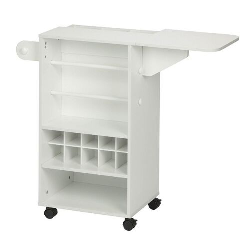 Craft Storage Cart Rolling Organizer Gift Wrapping Station White Crafting Stand