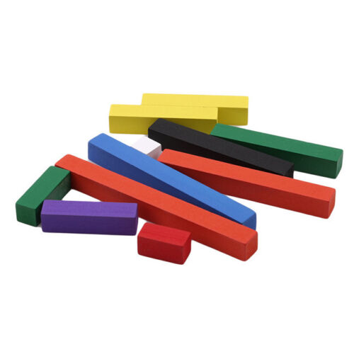 Colorful Montessori Wooden Math Number Sticks Toys Ascending Count Stick Toy Z