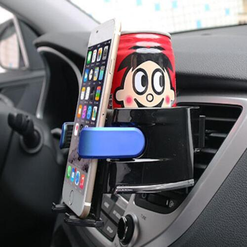 Smart Car Drinks Holder Bottle Cup Water Air Vent Phone Mount 2 IN 1 Universal M