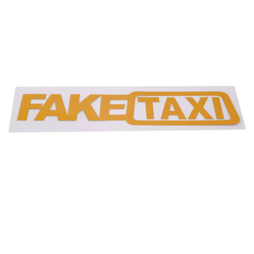 """2x TAXI Sticker Cab Driver Limo Yellow Car Window Decal 1.5/"""" x 5.7/"""" each NY MA"""