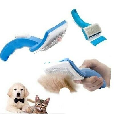 Pet Dog Cat Grooming Self Cleaning Slicker Brush Comb Hair Fur Shedding Tool MA
