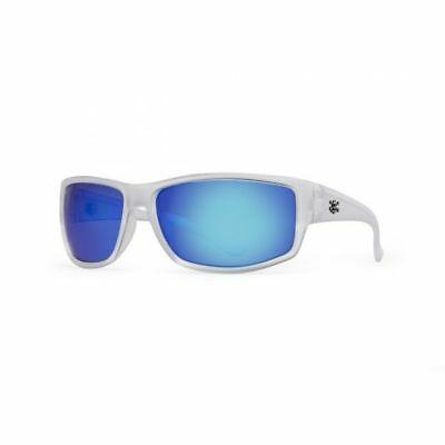 Calcutta Polarized Rip Sunglasses Crystal/Blue Mirror Lens (Blue Lens Sunglasses Polarized)