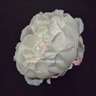 10 Top Quality WHITE Artificial Silk Peony Rose Flower Head DIY Wedding Decor  ()