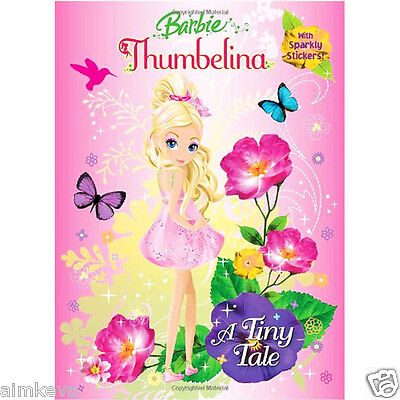 Golden Books Barbie Thumbelina A Tiny Tale 48 Page Sticker & Coloring Book (Thumbelina Coloring Book)