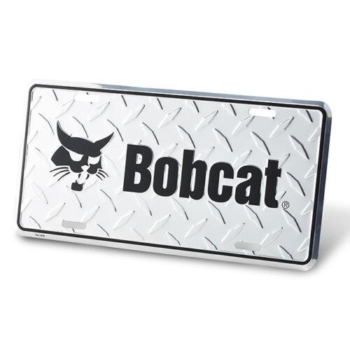 "Bobcat Metal Diamond Plate Look License Plate Embossed 6"" x 12"" 250067"