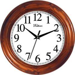 Ashton Sutton WAC806 Round Quartz Analog Wall Clock Solid Wood Case with Pine...