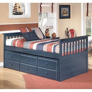 Twin Beds With Trundle And Storage - SOLD