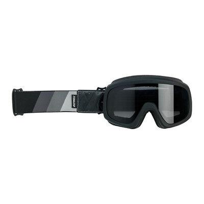Biltwell Overland Gafas , Gafas para Moto, Gris-Negro para Casco Jet, Antivaho