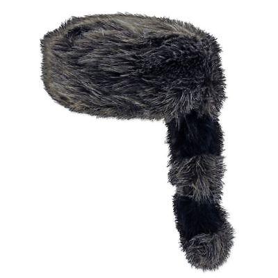 Coonskin Cap Halloween Costume (Davey Crockett Coonskin Cap Fur Tail Raccoon Coon Hat Halloween)