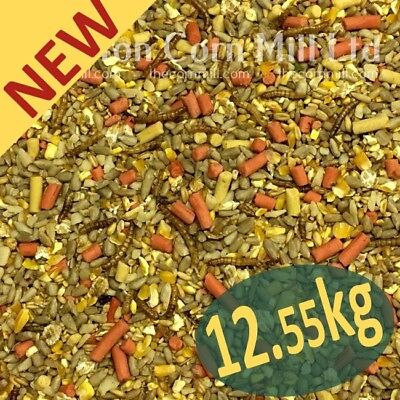 12.55kg Gourmet 'ZERO' Grow WILD BIRD MIX with Sunflower Hearts,Suet & Mealworms